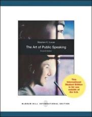 The Art of Public Speaking (Int'l Ed)