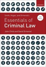 Smith, Hogan, and Ormerod's Essentials of Criminal Law