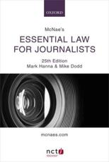 McNae's Essential Law for Journalists