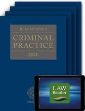 Blackstone's Criminal Practice 2020 (With Supplements)