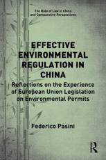 Effective Environmental Regulation in China