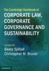 The Cambridge Handbook of Corporate Law, Corporate Governance, and Sustainability