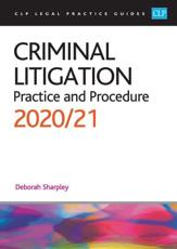Criminal Litigation: 2020/2021
